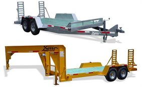 Low profile equipment trailers